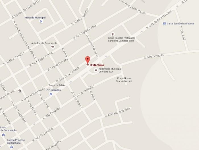 Mapa IFMA Campus Viana